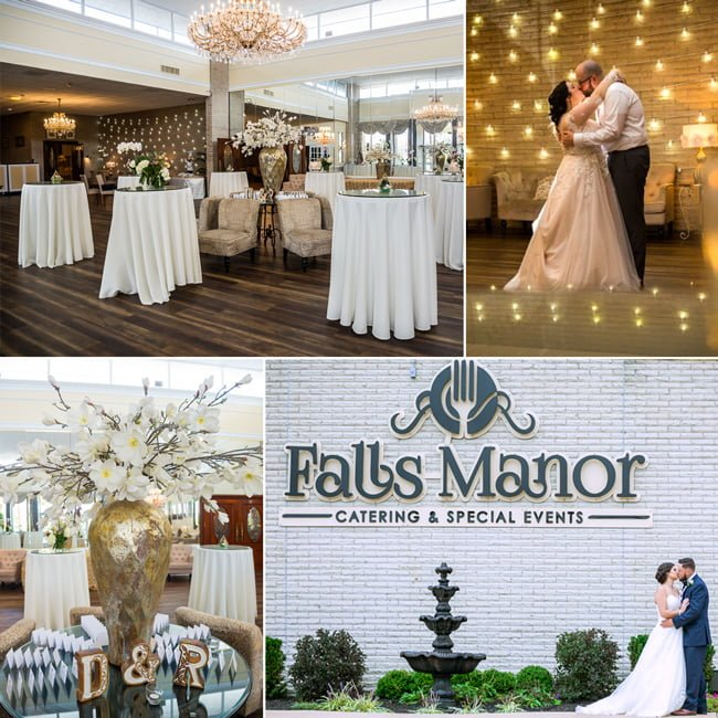 Catering and special events collage, Falls Manor