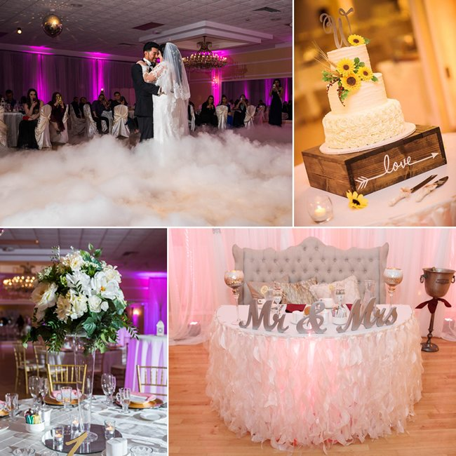 Wedding photo collage, Falls Manor
