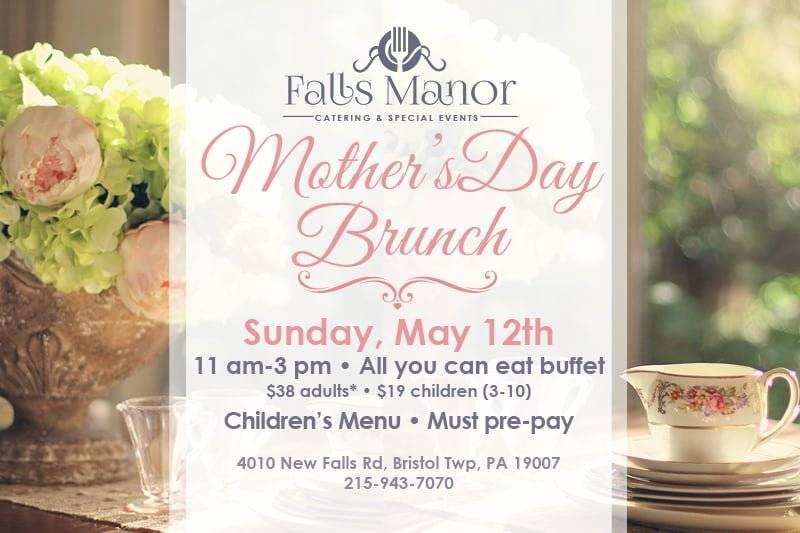 Easter brunch invitation, Falls Manor